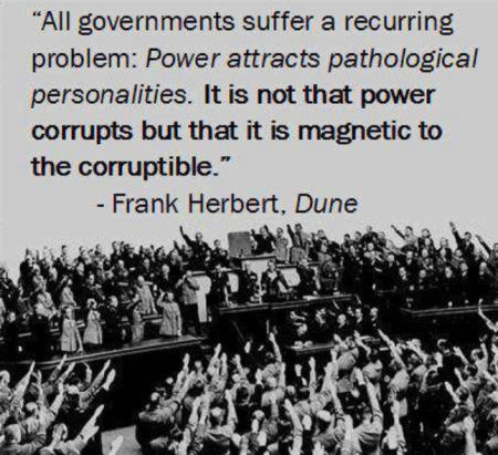 Dune on power corrupts