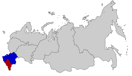 Southern District in Blue (less Crimea)